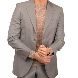 NWT €315 CARAMELO Virgin Wool Suit Textured